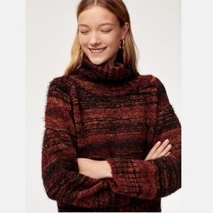 Aritzia Babaton Titus Sweater Cropped Turtleneck